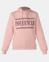 Legit Hoodie Pullover With Influencer Screen Print Blush Photo