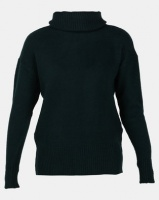 Legit Boxy Roll Neck Pullover Teal Photo