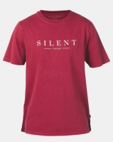 Silent Theory Spell Out Tee Burgundy Photo
