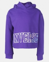 Converse Cropped Court Hoodie Purple Photo