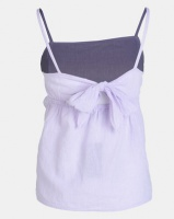 New Look Maternity Lilac Linen Blend Tie Back Cami Photo