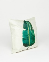 Utopia Banana Leaf Scatter Cushion Off White/Green Photo