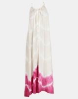 Allegoria Beige Halter Neck Maxi Dress Tie Dye Photo