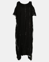 Allegoria Black and White Open Shoulder Maxi Dress Photo