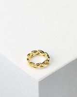 Utopia Leaf Detail Ring Gold-tone Photo