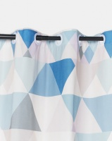 Utopia Blue Geo Curtain by Photo