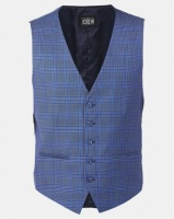 JCrew Check Waistcoat Blue Photo