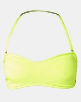 Sissy Boy Seersucker Bandeau Bikini Top with Removable Padding And Straps Lumo Green Photo