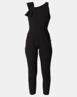 City Goddess London Bow Front Jumpsuit Black Photo