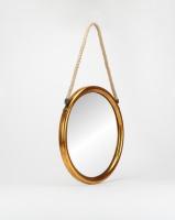 Utopia Large Round Mirror Gold Photo