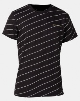 Golden Equation Pinstripe T-shirt Black Photo