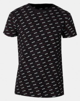 Golden Equation Brand Carrier Print T-shirt Black Photo