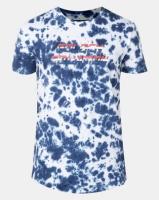 Golden Equation Tie Dye Curved Hem T-shirt White Photo
