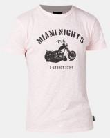 D-Struct Bike Placement Print T-shirt Pink Photo