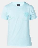 D-Struct Aqua Palm Print T-shirt Blue Photo