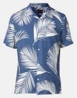 D-Struct Short Sleeve Palm Print Shirt Navy Photo
