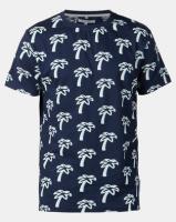Bellfield Palm Crew Neck T-Shirt Navy Photo