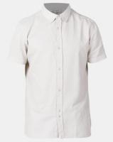 Bellfield Cotton Waffle Short Sleeve Shirt Stone Photo