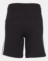 adidas Performance adidas Boys Essential 3 Stripe Knit Shorts Black Photo