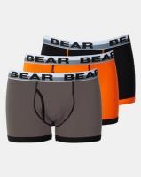 Bear 3 Pack Colour Block Binding Bodyshorts Multi Photo