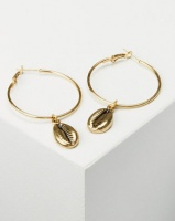Joy Collectables Cowry Hoop Earrings Gold-tone Photo