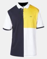 JCrew Colour Blocked Mercerize Golfer Yellow Photo