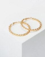 Lily Rose Lily & Rose 50mm Twisty Hoop Earrings Gold Photo