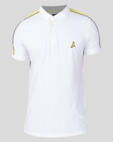 Brave Soul Pique Golfer with Shoulder Detail White Photo