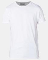Brave Soul Crew Neck Roll T-Shirt White Photo