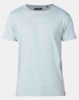 Brave Soul Crew Neck Roll T-Shirt Baby Blue Photo