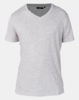 Brave Soul Classic V-Neck T-Shirt Grey Photo