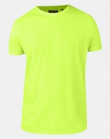 Brave Soul Crew Neck T-Shirt Neon Yellow Photo
