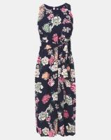 Revenge Flower Print Jumpsuit Navy Photo