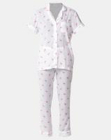 Lila Rose Flamingo Print Short Sleeve Long Pant PJ Set Multi Photo