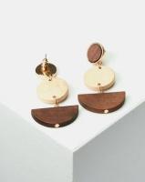 All Heart Abstract Wood Drop Earrings Multi Photo