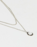 Black Lemon Layered Necklace Silver Photo