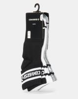 Converse CHN 3PK Basic Wordmark QTR Socks Dark Grey/Heather White/Black Photo
