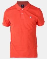 Polo Mens Powder Grendine Custom Fit Short Sleeve Pique Golfer Red Photo