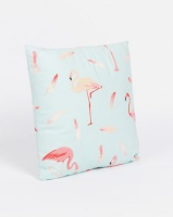 Utopia Flaming Flamingo Scatter Cushion Cover Mint Photo