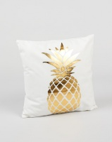 Utopia Foil Pineapple Scatter Cushion Cover Gold Photo