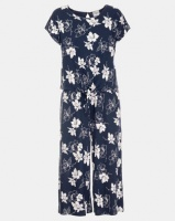 Contempo Floral Cropped Jumpsuit Navy Photo