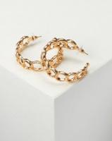 All Heart Chain Link Hoop Earrings Gold-tone Photo