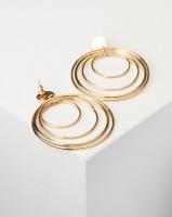 All Heart Layered Hoop Earrings Gold-tone Photo