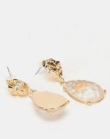 All Heart Chunky Jewelled Drop Earrings Gold-tone Photo