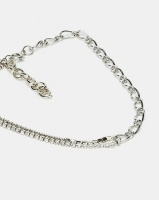 All Heart Chain Linked Necklace Silver-tone Photo