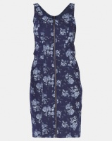 cath.nic By Queenspark Printed Front Zip Woven Dress Blue Photo