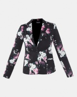 Queenspark Woven Jacket Black/Pink Rose Photo