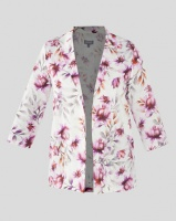 Queenspark Diffused Beauty Linen Blend Woven Jacket White Photo