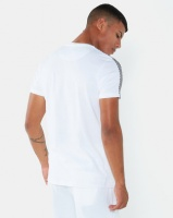 Brave Soul Crew Neck T-Shirt With Check Tape Detail White Photo
