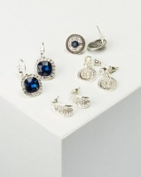 Queenspark 4 Pack 2 Drop Combo Earrings Silver/Colour Photo